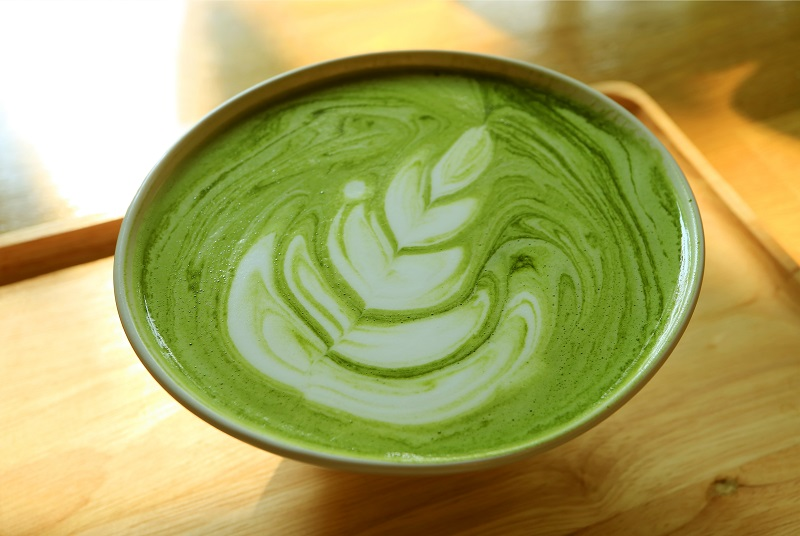 Matcha latte, the best alternative to coffee