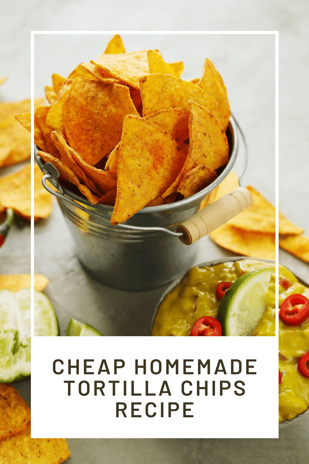 Homemade tortilla chips without oil - cheap, delicious and ready in minutes!