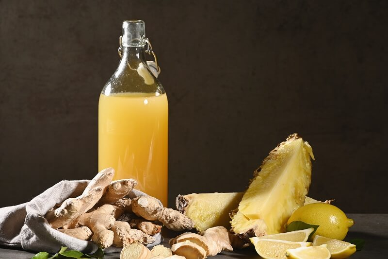 Pineapple and ginger juice – a cooling drink with anti-inflammatory properties