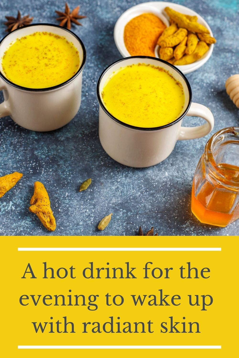 A hot drink for the evening to wake up with radiant skin