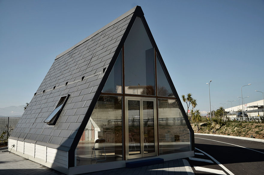 A house that can be built in six hours just by folding out the walls